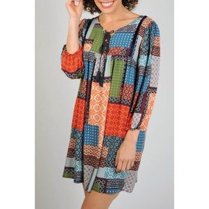 Uncle Frank Boho Patchwork Tunic Dress